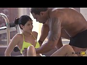 BLACK4K. Rich chick Madelina has lack of sex and black man saves her