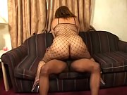 Big booty black girl Alize loves sucking a big black cock on her couch