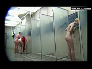 Gorgeous females in a public shower room