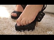 Extra hot Brit babe Karlie Simon teases you with sexy toes &amp_ masturbation