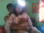north east indian couple foreplay pressing boobs