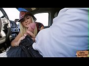 Jade Amber shaved pussy gets banged in a strangers car
