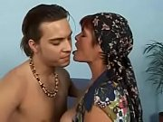 Busty hairy granny Sirmione gets her ass and hairy pussy nicely fucked
