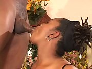 Big booty ebony beauty Hypnottic rides black cock in all positions