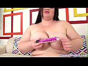 Masturbating chubby beauty loves toys